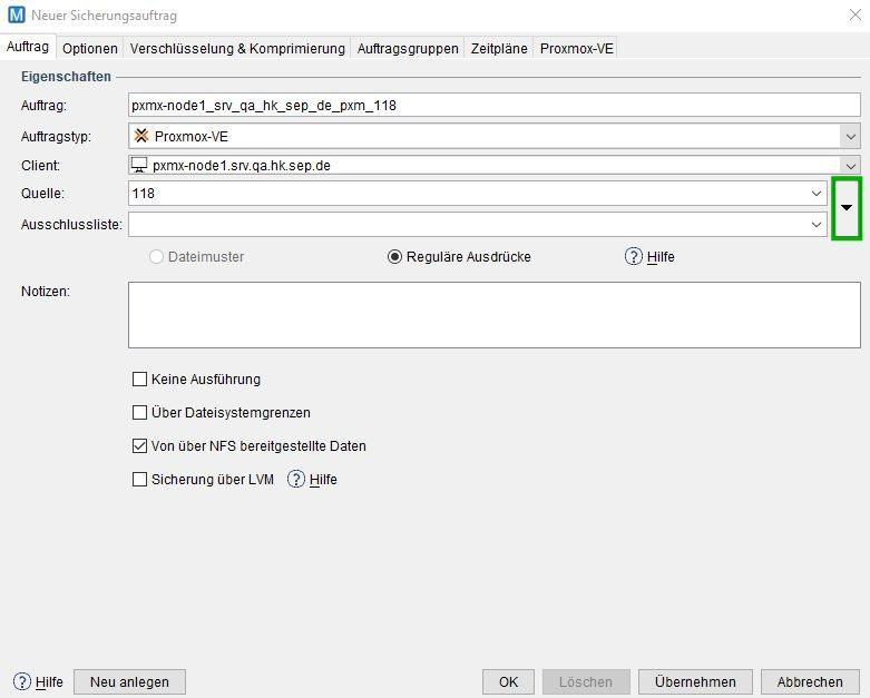 4 4 3 Beefalo:Proxmox VE Sicherung - SEPsesam